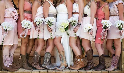 Country Themed Wedding Bridesmaid Photo