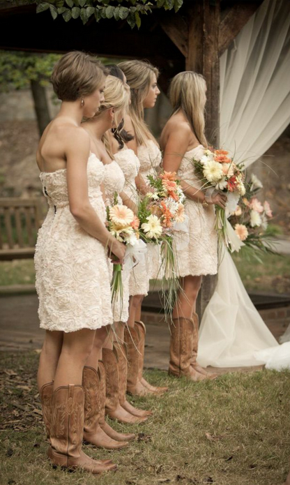 Country Themed Wedding Bridesmaids