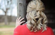 Half French Twist hair tutorial