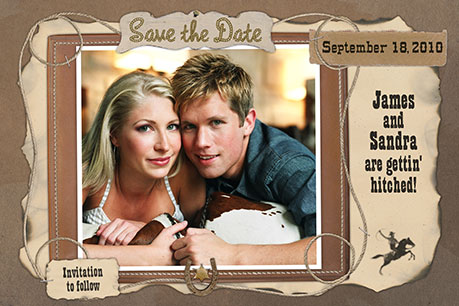 Save the Date Cowboy Theme