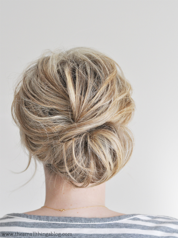 The Low Chignon hair tutorial