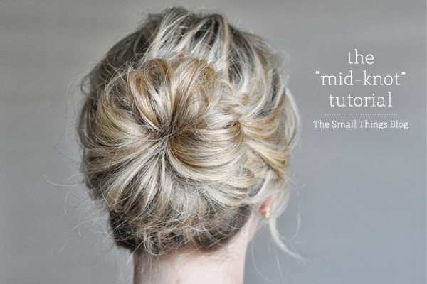 The Mid Knot hair tutorial