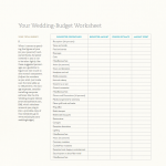 Wedding Budget Worksheet 1