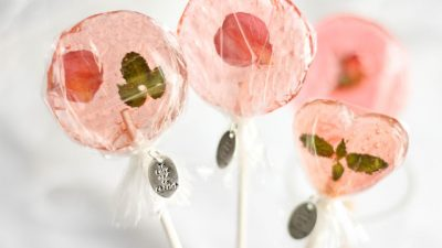 Bellini Petal Lollipop Wedding Favors
