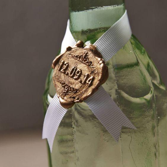 Wax Seal Idea for Bottle