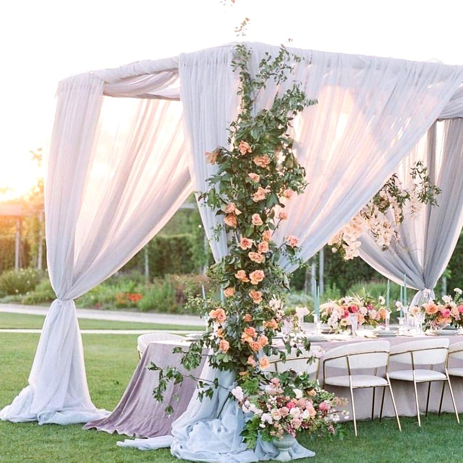silk draping wedding reception cabana