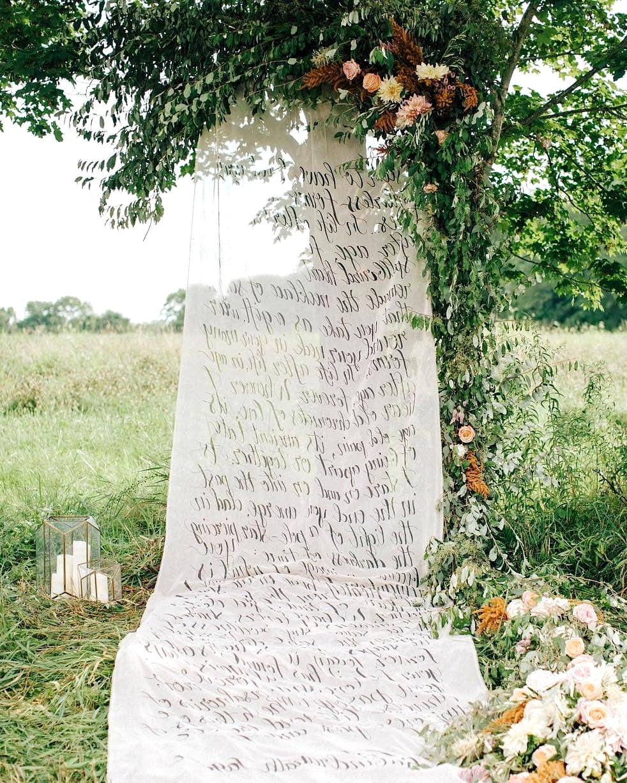 wedding cloth signage backdrop
