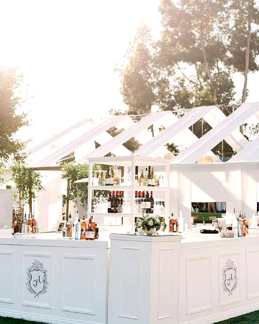 classic wedding bar with open air drapes