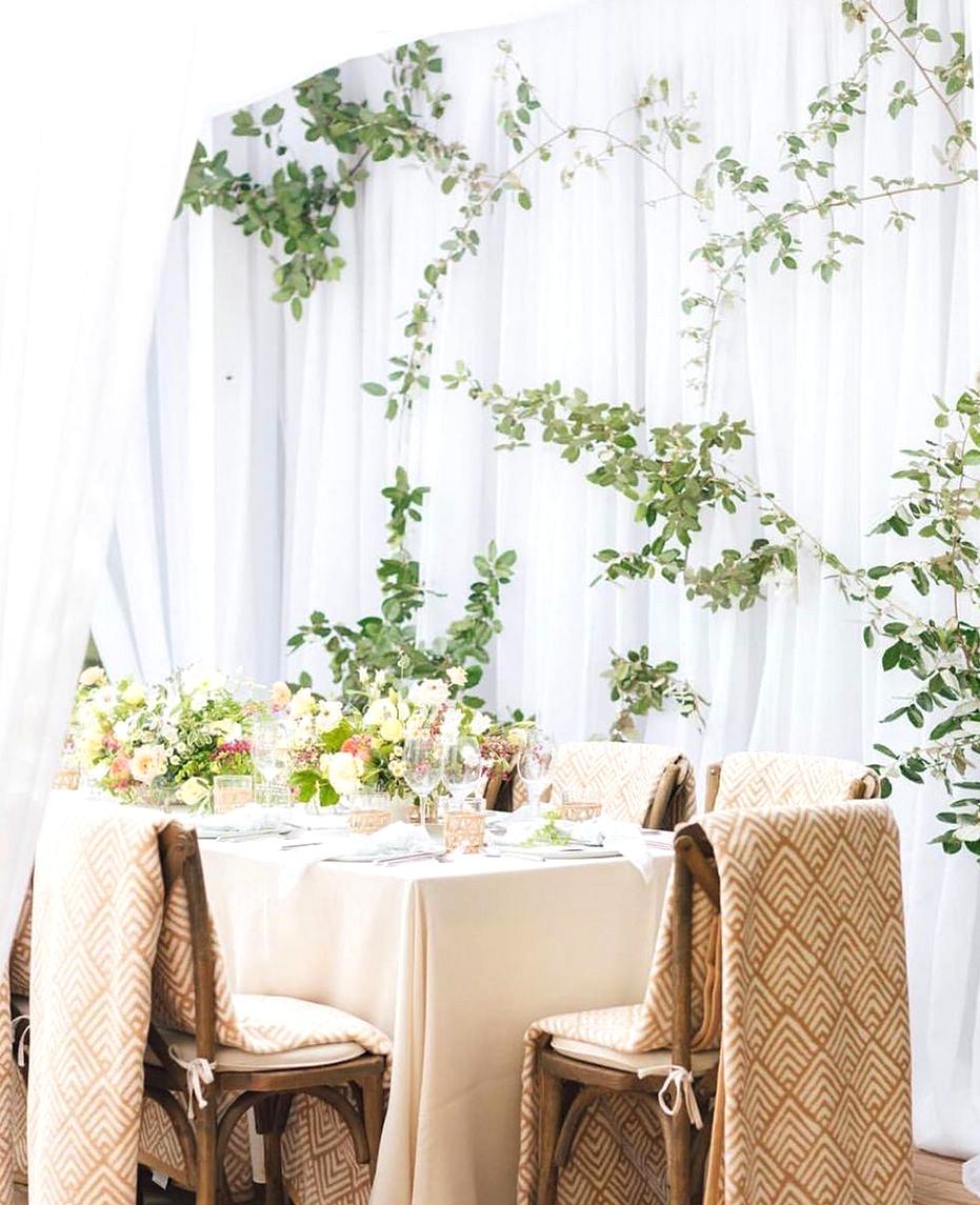 classic wedding reception drape decor