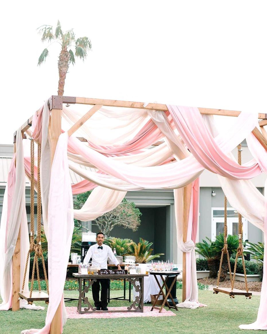 mixed pink wedding drapes