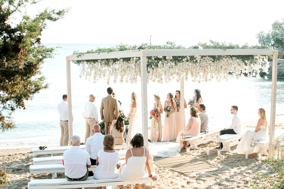 beach wedding venue in greece