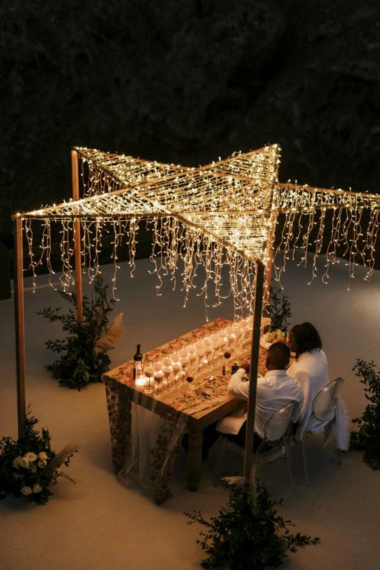 Santorini Elopement Star Reception=