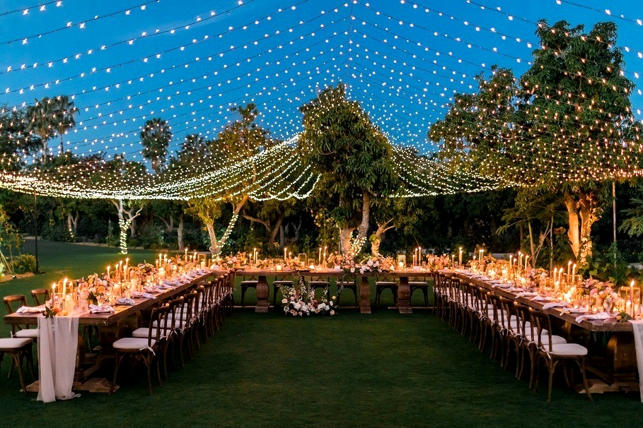 Perfect dreamy wedding at Cabo San Lucas under romantic lights