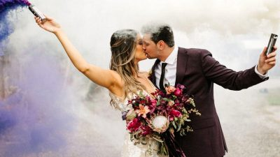 Burgundy Fall Marriage ceremony in Orlando Florida