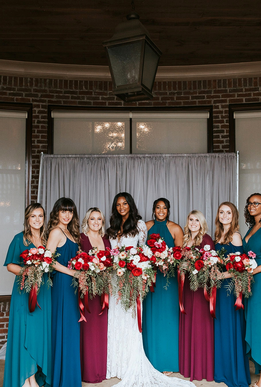 Boho Atlanta Wedding bridesmaids