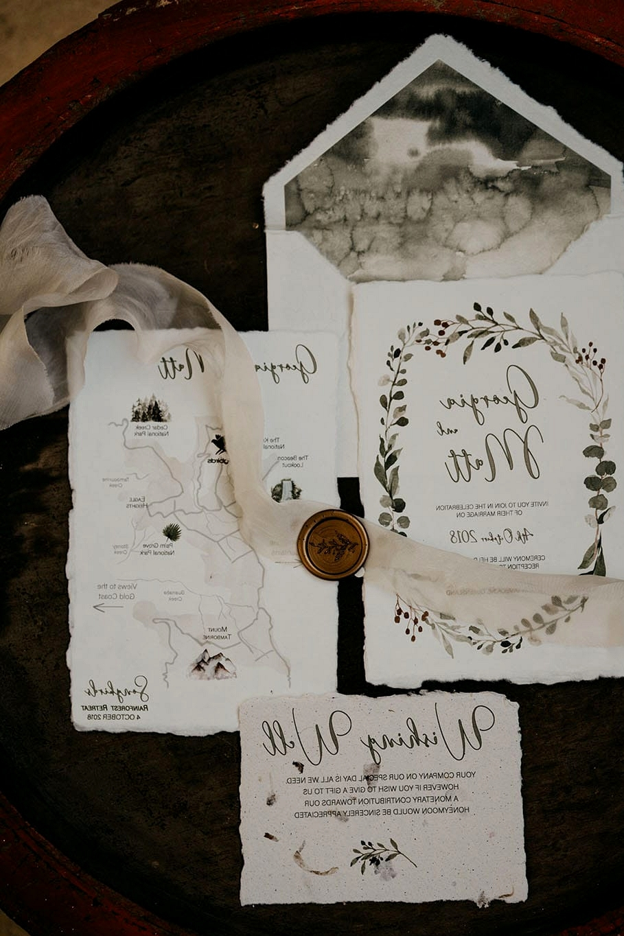 Natural Romantic Wedding Inspiration at a Rainforest Retreat  White Parrot Photography & Film