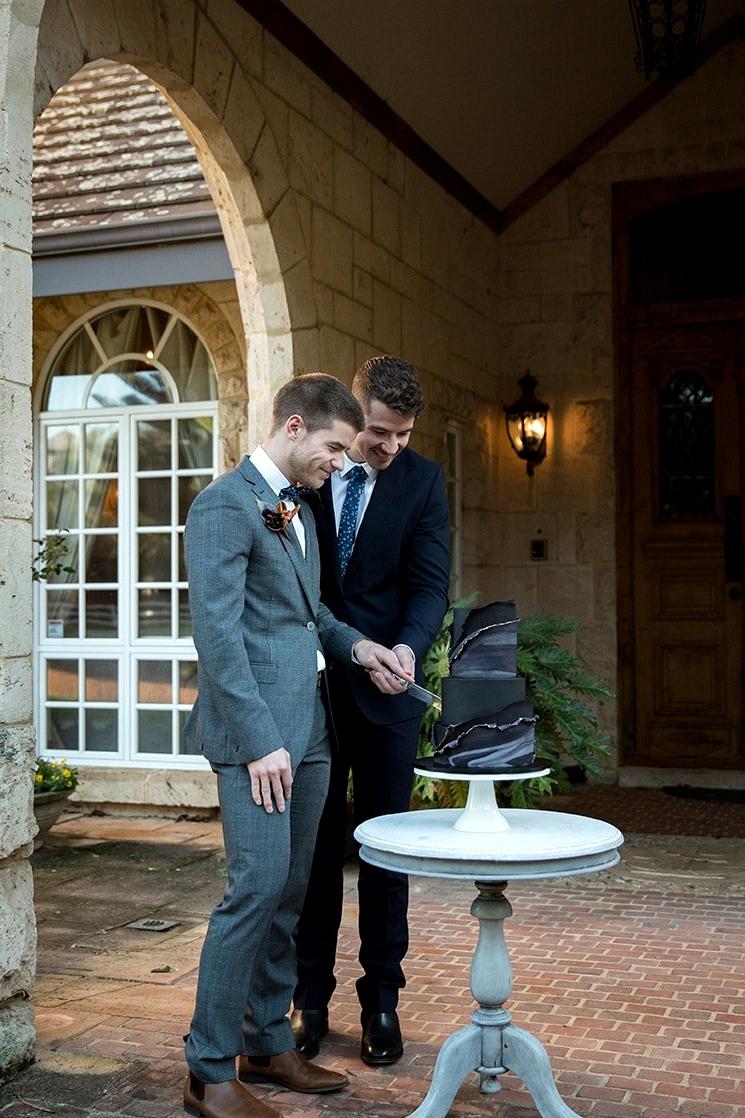 Modern Rustic Wedding Inspiration in Moody Blue & Copper |Jasmine Skye Photography