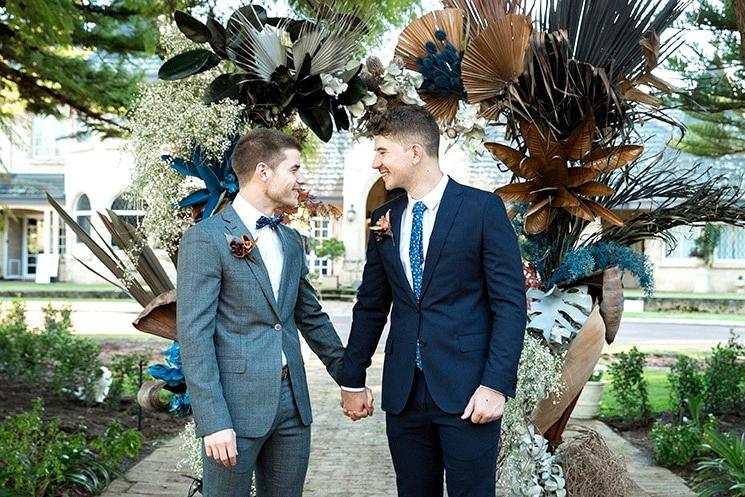 Modern Rustic Wedding Inspiration in Moody Blue & Copper