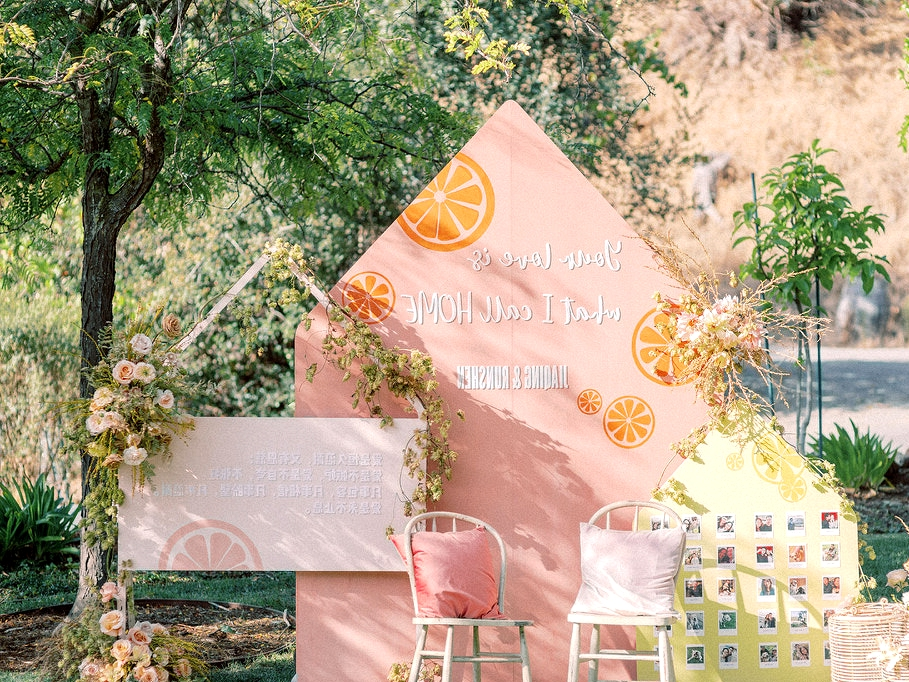 fruit wedding decor wall