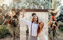Burnt Orange Boho Desert Wedding Inspiration