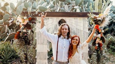 Boho Desert Wedding ceremony Inspiration in Burnt Orange