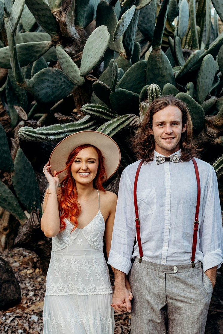 Burnt Orange Boho Desert Wedding Inspiration | Chasing Moments Photography