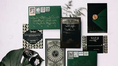 Emerald Artwork Deco Marriage ceremony Inspiration