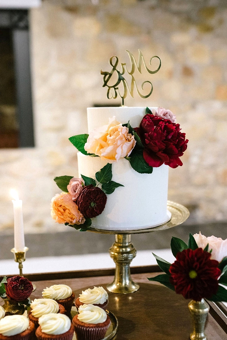 Burgundy & Gold Wedding Inspiration at a Magnificent Manor | Lucinda May Photography