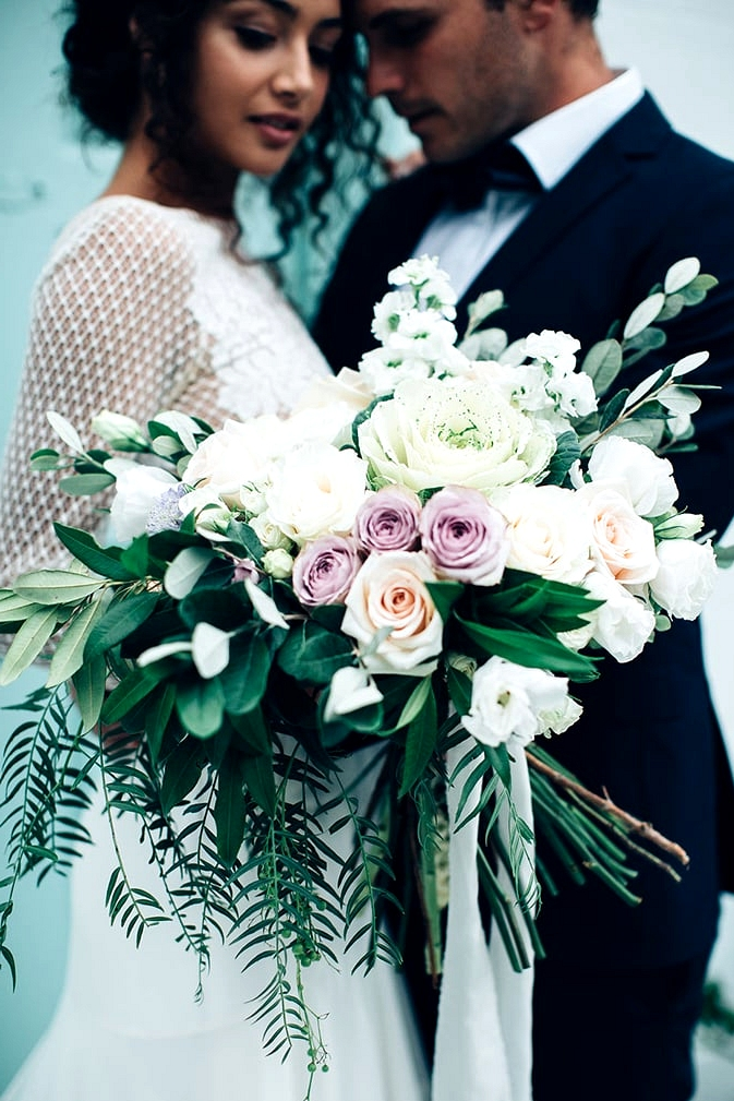 Modern Restaurant Wedding Inspiration in Mint and Lavender | Figtree Wedding Photography