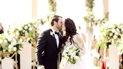 French Backyard Wedding ceremony At The Resort at Pelican Hill