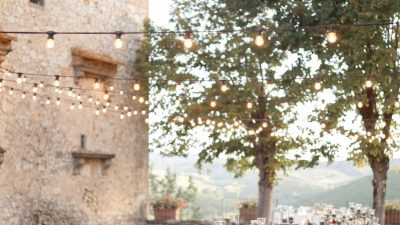 Intimate Wedding ceremony with 40 Visitors at Castello di Meleto in Tuscany
