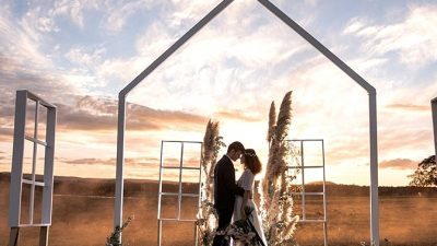 Romantic Nation Marriage ceremony Inspiration with an Open Air Chapel