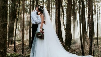 Moody Woodland Wedding ceremony Inspiration
