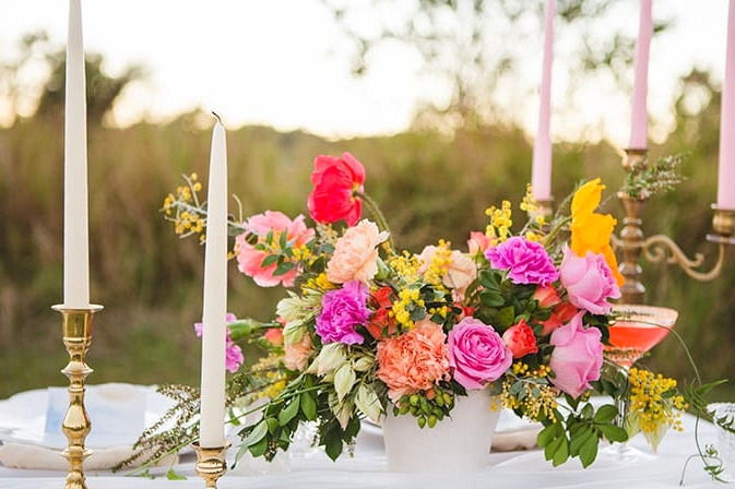 Vibrant Hot Air Balloon Wedding Inspiration   Just For Love Photography