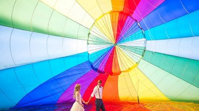 Vibrant Sizzling Air Balloon Marriage ceremony Inspiration
