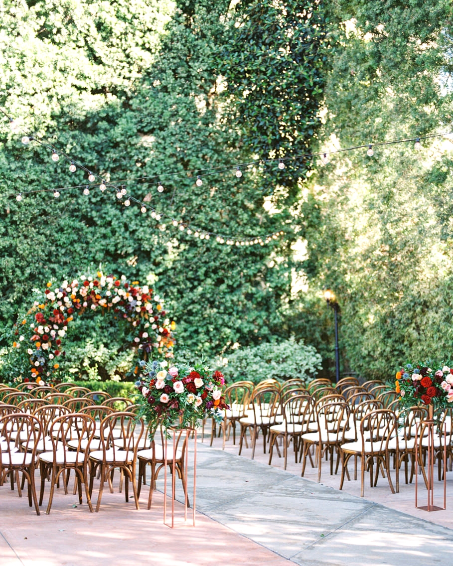 Franciscan Gardens Wedding ceremony space