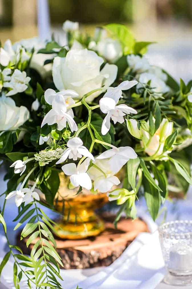 White, Gold and Green Garden Wedding Inspiration | Lee Calleja Thomas