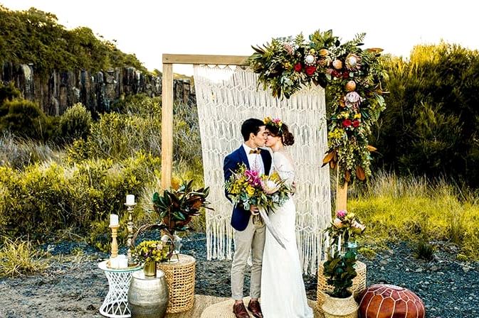 Wild and Bright Boho Wedding Inspiration | Ainslee Burke Photography