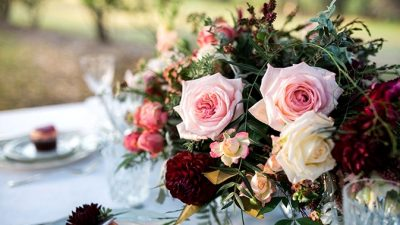 Romantic Berries & Cream Wedding ceremony Inspiration