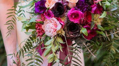 Jewel-Toned Secret Backyard Marriage ceremony Inspiration