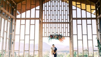 Sunkissed Lavender Farm Marriage ceremony with an Open Air Chapel