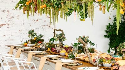 Fashionable Foodie Woodland Marriage ceremony Inspiration