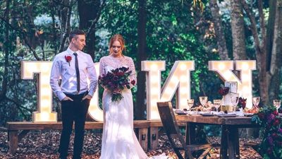 Trendy Rustic Marriage ceremony Inspiration with a Feasting Model Reception