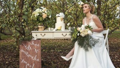 Orchard Impressed Marriage ceremony Concepts in Apricot and Plum