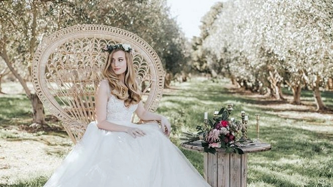 Classic Boho Wedding ceremony Inspiration in a Blossoming Almond Grove