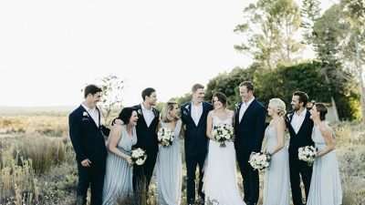 A Contemporary Inexperienced and White Coastal Wedding ceremony