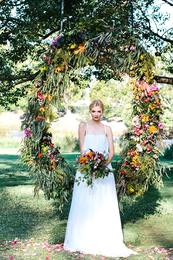 Vibrant Summer Garden Wedding Inspiration | Camilla Kirk Photography
