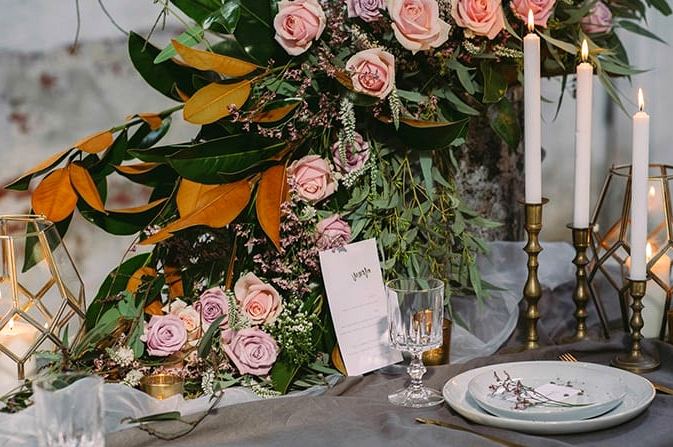 Moody Warehouse Wedding Inspiration