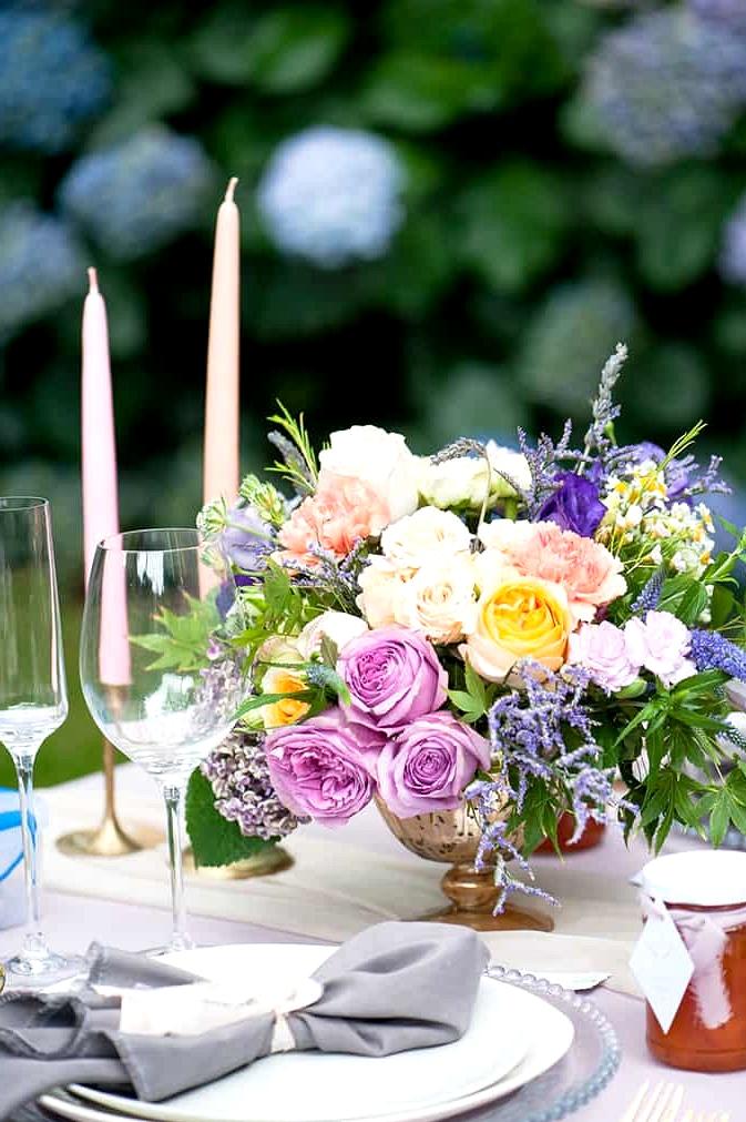Watercolour-Garden-Wedding-Inspiration-Reception-Centrepiece-2