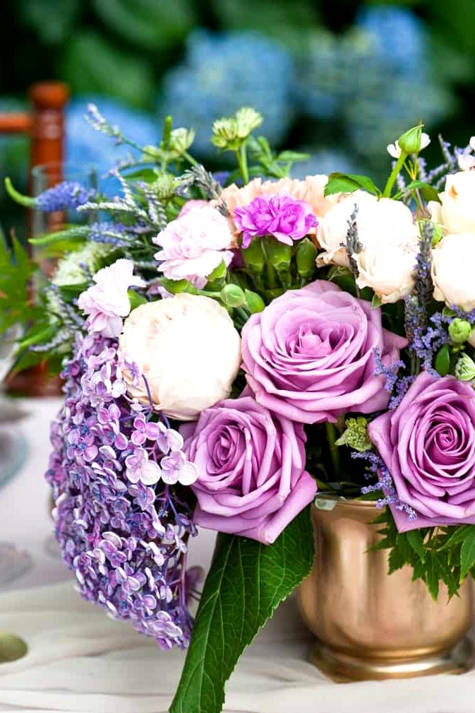 Watercolour-Garden-Wedding-Inspiration-Reception-Centrepiece-Flowers